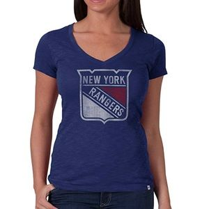 NEW NHL '47 Brand Women's V-Neck Scrum Tee. XS